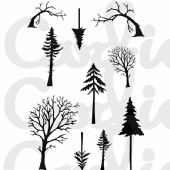 Card-io Combinations A7 Clear Stamp Set - Mini Tall Trees - CDCCSTMIN-01